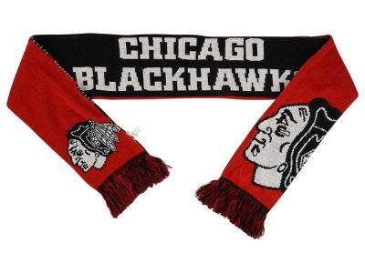 Chicago Blackhawks Acrylic Knit Scarf Reversible Split Logo