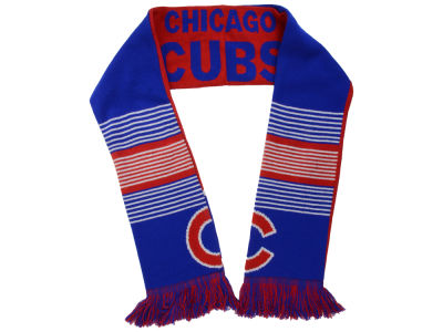 Chicago Cubs Acrylic Knit Scarf Reversible Split Logo