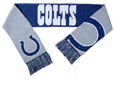 Indianapolis Colts Acrylic Knit Scarf Reversible Split Logo