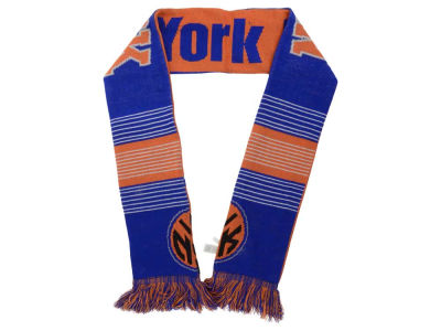 New York Knicks Acrylic Knit Scarf Reversible Split Logo
