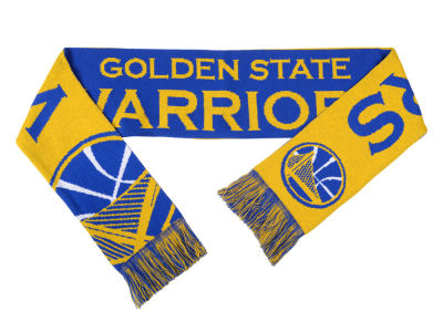 Golden State Warriors Acrylic Knit Scarf Reversible Split Logo