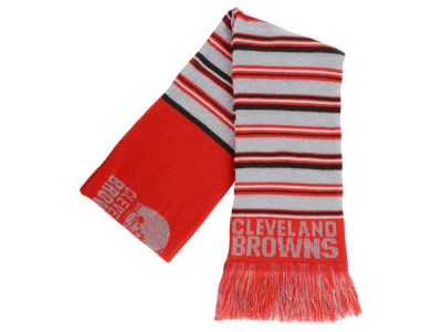 Cleveland Browns Acrylic Glitter Stripe Scarf