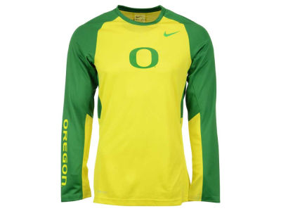 Oregon Ducks Nike NCAA Men's Elite Shootaround Long Sleeve T-Shirt