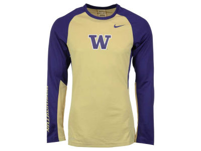 Washington Huskies Nike NCAA Men's Elite Shootaround Long Sleeve T-Shirt
