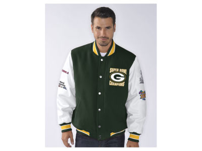 Green Bay Packers GIII NFL Men's Game Ball Commemorative Jacket