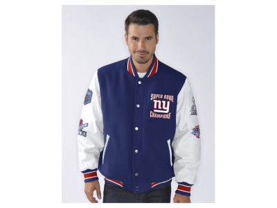 New York Giants NFL Men's Game Ball Commemorative Jacket