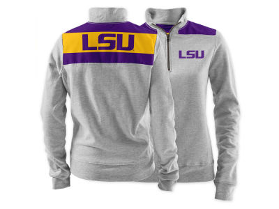 LSU Tigers NCAA Women's Phys. Ed Quarter Zip Pullover Shirt