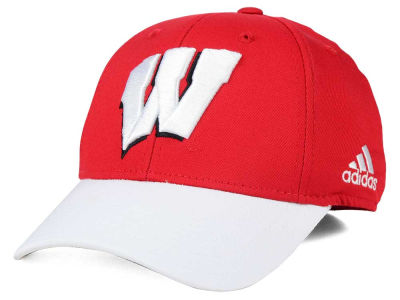 Wisconsin Badgers adidas NCAA Structured Flex Cap