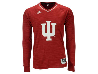Indiana Hoosiers adidas NCAA Men's On Court Long Sleeve Shooter T-Shirt