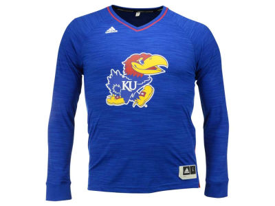 Kansas Jayhawks adidas NCAA Men's On Court Long Sleeve Shooter T-Shirt