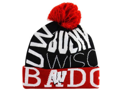 Wisconsin Badgers adidas NCAA Cuffed Pom Knit