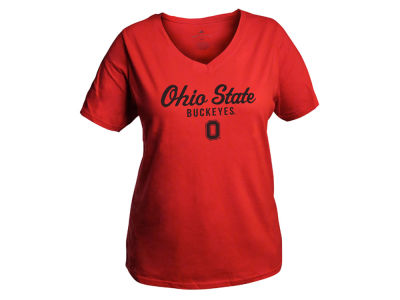 Ohio State Buckeyes NCAA Women's Curves V-Neck Plus Size T-Shirt