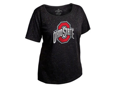 Ohio State Buckeyes NCAA Women's Curves Glitter Short Sleeve Plus Size T-Shirt