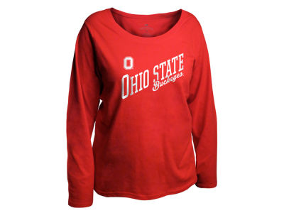 Ohio State Buckeyes NCAA Women's Curves Long Sleeve Plus Size T-Shirt