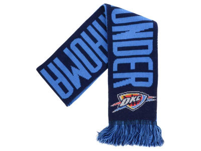 Oklahoma City Thunder Acrylic Knit Scarf Reversible Split Logo