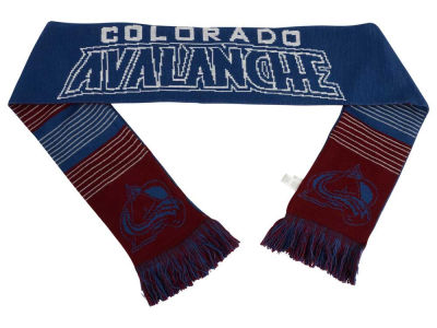 Colorado Avalanche Acrylic Knit Scarf Reversible Split Logo