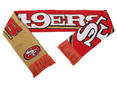 San Francisco 49ers Acrylic Knit Scarf Reversible Split Logo