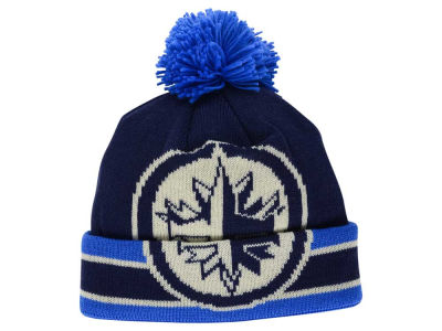 Winnipeg Jets Reebok NHL CCM Oversized Logo Cuffed Pom Knit
