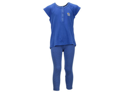 Kansas Jayhawks NCAA Toddler Girls Pin Dot Shirt and Legging Outfit