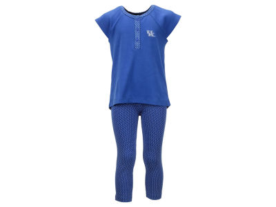 Kentucky Wildcats NCAA Toddler Girls Pin Dot Shirt and Legging Outfit