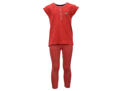 Louisville Cardinals NCAA Toddler Girls Pin Dot Shirt and Legging Outfit