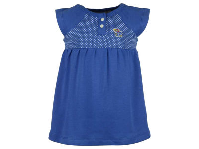 Kansas Jayhawks NCAA Toddler Girls Pin Dot Dress