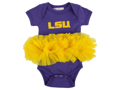 LSU Tigers Atlanta Hosiery NCAA Newborn Girls Tutu Romper
