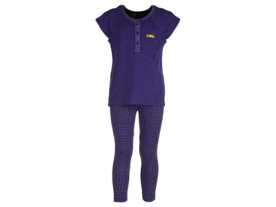 LSU Tigers NCAA Toddler Girls Pin Dot Shirt and Legging Outfit