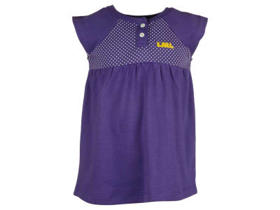 LSU Tigers NCAA Toddler Girls Pin Dot Dress