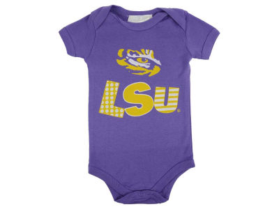 LSU Tigers NCAA Newborn Short Sleeve Creeper