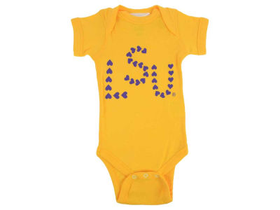 LSU Tigers NCAA Infant Heart Short Sleeve Creeper