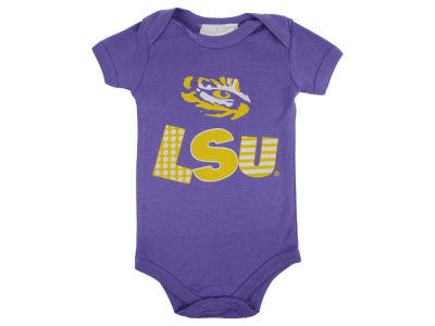 LSU Tigers NCAA Infant Short Sleeve Creeper