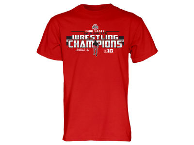 Ohio State Buckeyes Blue 84 NCAA Men's 2015 Big 10 Wrestling Champs T-Shirt