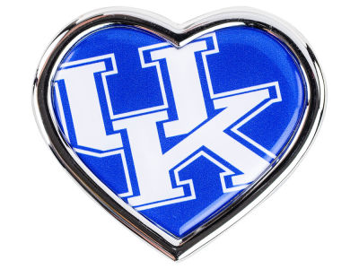 Kentucky Wildcats Heart Metal Auto Emblem