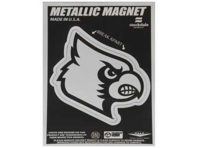 Louisville Cardinals 3x5 Metallic Magnet