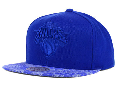 New York Knicks Mitchell and Ness NBA Get Paidsley Tonal Snapback Cap