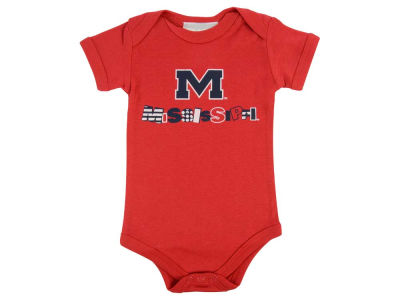 Ole Miss Rebels NCAA Newborn Short Sleeve Creeper
