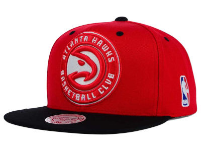 Atlanta Hawks Mitchell and Ness NBA Under Over Snapback Cap
