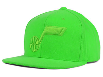 Utah Jazz Mitchell and Ness NBA Highlight Snapback Cap