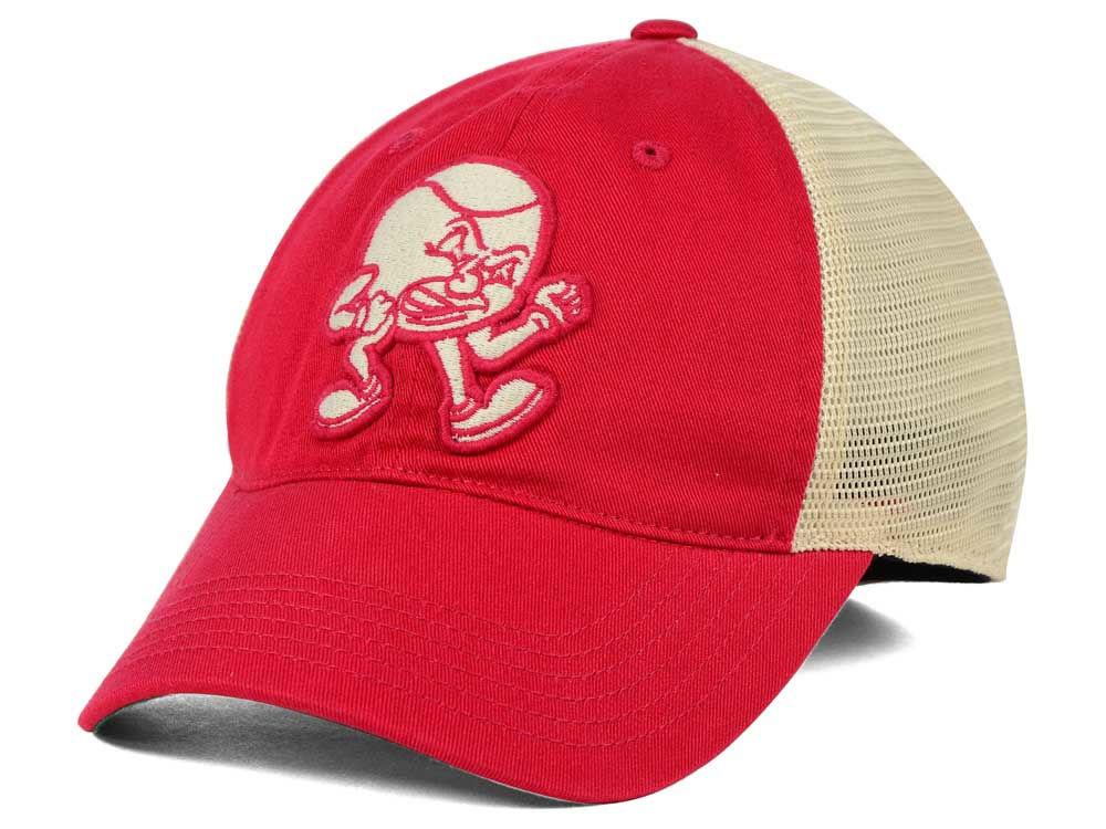 d3e08b8c93e Ohio State Buckeyes J America NCAA Angry Brutus Mesh Hat