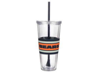 Chicago Bears 22oz Hyped Straw Tumbler