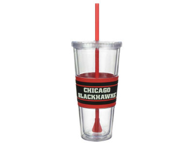 Chicago Blackhawks 22oz Hyped Straw Tumbler