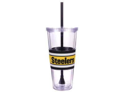 Pittsburgh Steelers 22oz Hyped Straw Tumbler