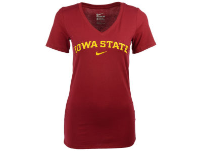 Iowa State Cyclones Nike NCAA Women's Arch Cotton Mid V-Neck T-Shirt