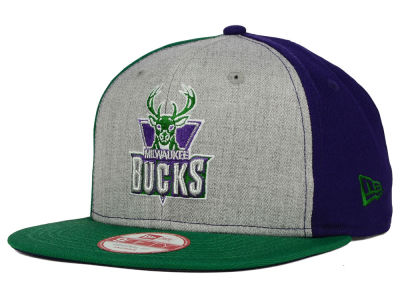 Milwaukee Bucks New Era NBA HWC Tri-Top 9FIFTY Snapback Cap