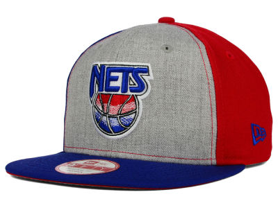 New York Nets New Era NBA HWC Tri-Top 9FIFTY Snapback Cap