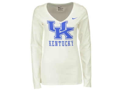 Kentucky Wildcats Nike NCAA Women's Mid V Logo Long Sleeve T-Shirt