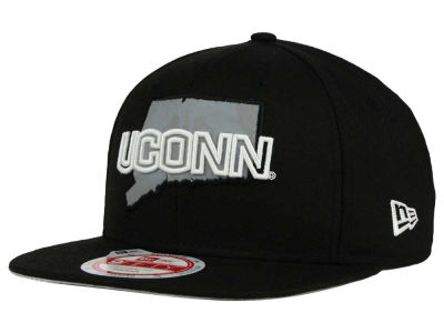 Connecticut Huskies New Era NCAA State Flective 9FIFTY Snapback Cap