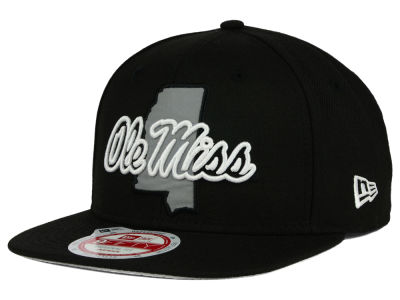 Ole Miss Rebels New Era NCAA State Flective 9FIFTY Snapback Cap
