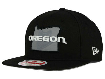 Oregon Ducks New Era NCAA State Flective 9FIFTY Snapback Cap
